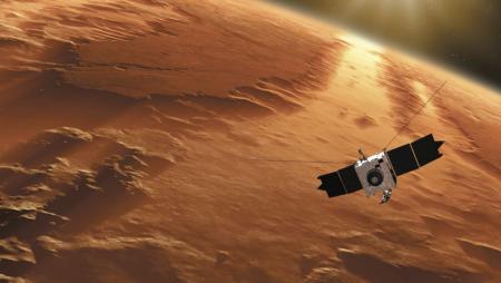 Sonda kosmiczna MAVEN na orbicie wokół Marsa