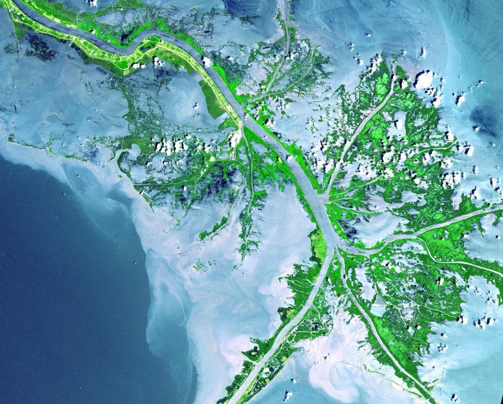 Detla Mississippi. Fot. NASA