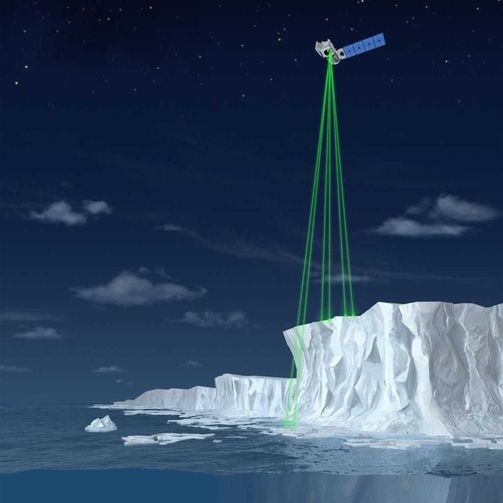 Satelita IceSat-2. Rys. NASA