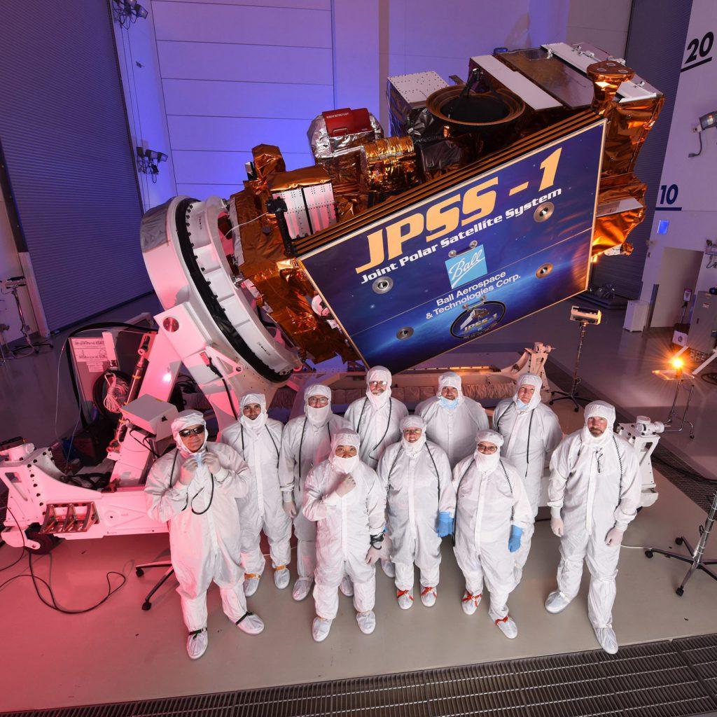 Amerykański satelita meteorologiczny najnowszej generacji: JPSS-1 (NOAA-20). Fot. Ball Arerospace.