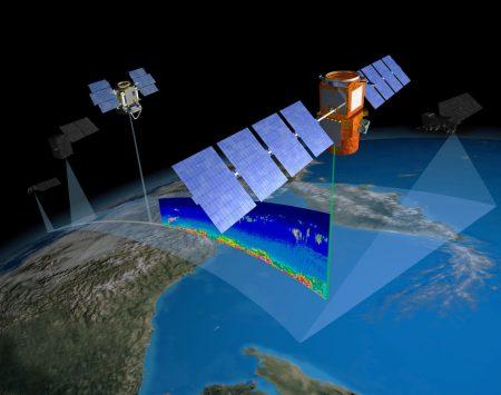 CloudSat i CALIPSO w konstelacji A-Train. Ryc. NASA
