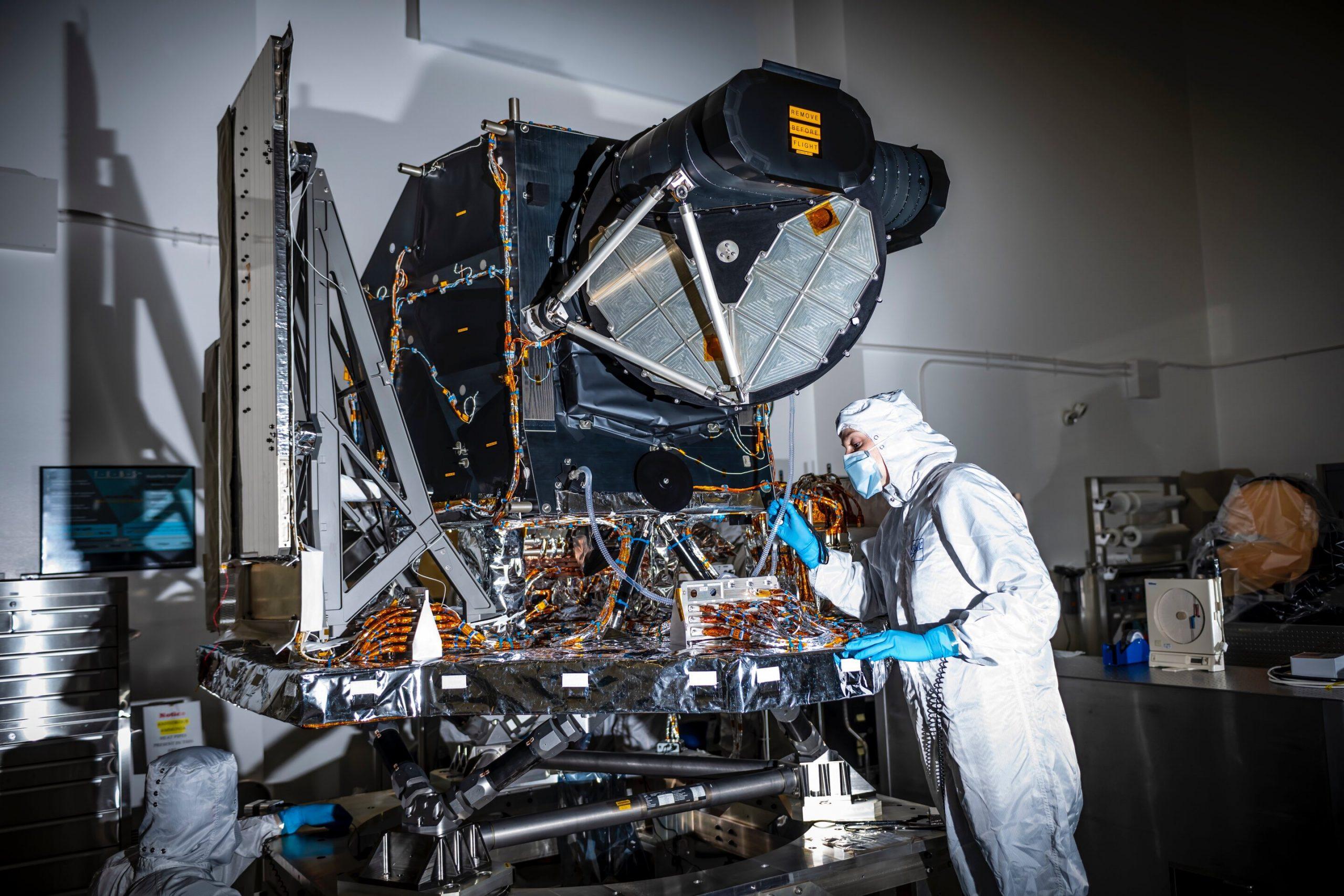 Operational Land Imager-2, podstawowy instrument na pokładzie satelity Landsat-8. Niemal identyczny sensor gości na pokładzie bliźniaczego obserwatorium Landsat-8. Fot. NASA